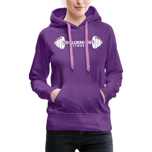 White logo! - Women's Premium Hoodie