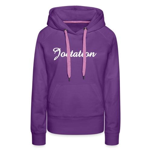 White Text Joetation Signature Brand - Women's Premium Hoodie