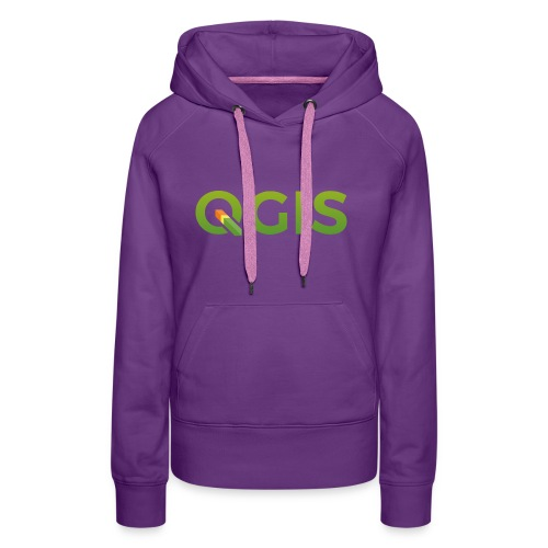 QGIS text logo - Women's Premium Hoodie