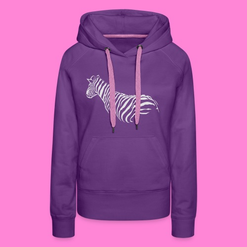 zebra1 - Vrouwen Premium hoodie