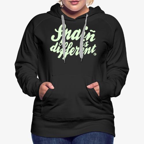 Spain is different / Special custom colours - Sudadera con capucha premium para mujer