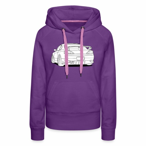 cool car white - Women's Premium Hoodie