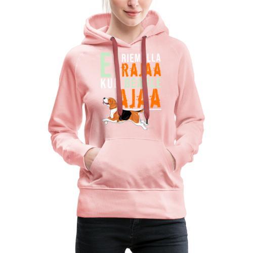 Riemulla Rajaa Beagle - Naisten premium-huppari