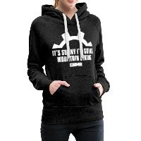 It's Sunny I'm Going Mountain Biking - Women's Premium Hoodie - charcoal grey