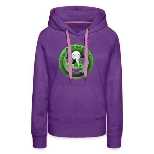 Rigormortiz Metallic Green Design - Women's Premium Hoodie