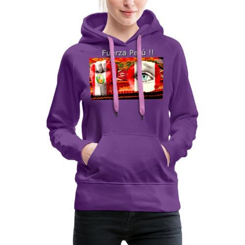 Telar Fuerza Peru I - Sweat-shirt à capuche Premium pour femmes