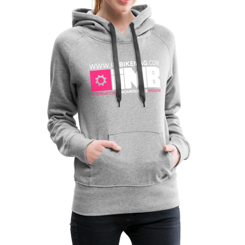 IMB Logo - Women's Premium Hoodie - heather grey
