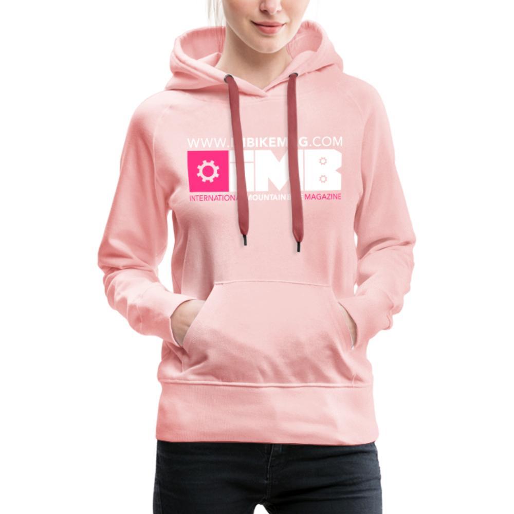 IMB Logo - Women's Premium Hoodie - crystal pink