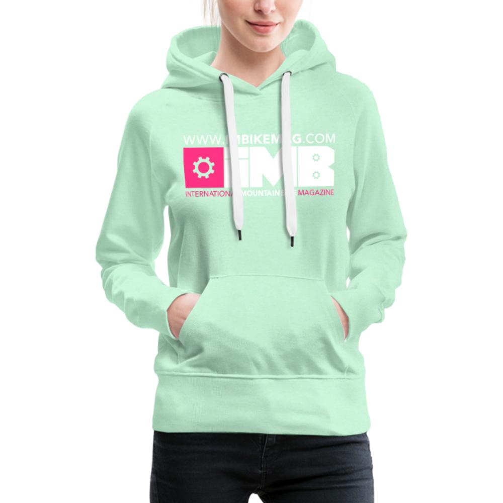 IMB Logo - Women's Premium Hoodie - light mint