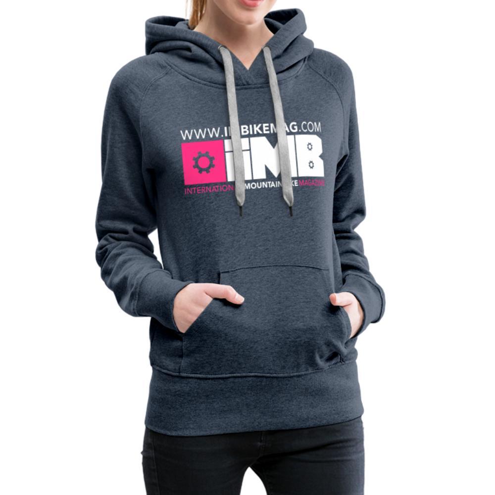 IMB Logo - Women's Premium Hoodie - heather denim