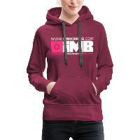 IMB Logo - Women's Premium Hoodie - bordeaux