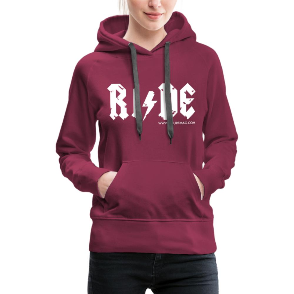 RIDE - Women's Premium Hoodie - bordeaux
