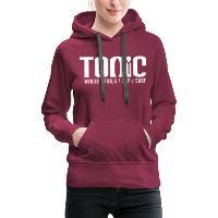 Tonic Logo - Women's Premium Hoodie - bordeaux