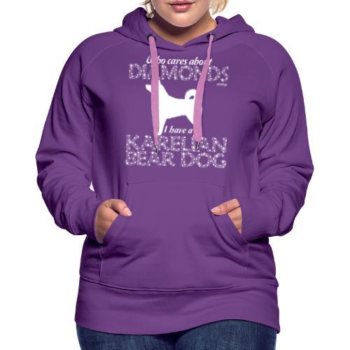 Karelian Bear Dog Diamonds - Naisten premium-huppari