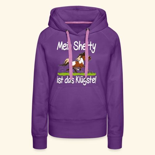 Mein Shetty das Klugste (Text weiss - Sweat-shirt à capuche Premium pour femmes