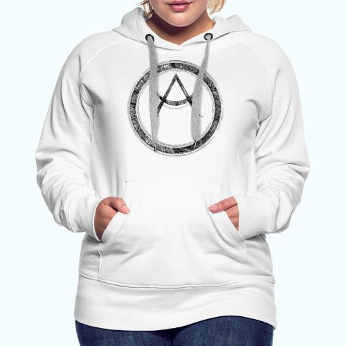 Mystic motif with sun and circle geometric - Women's Premium Hoodie