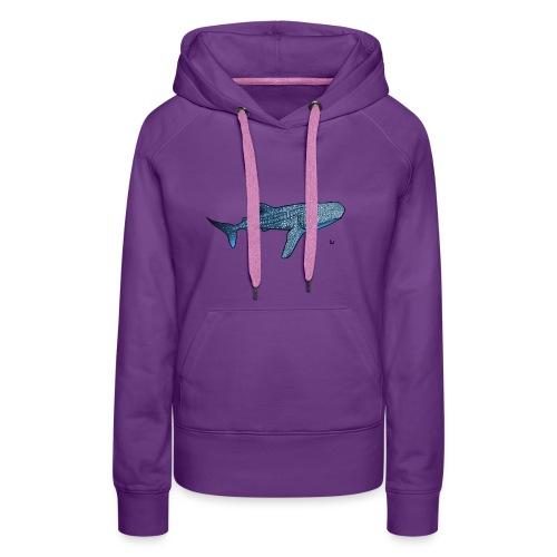Whale shark - Sweat-shirt à capuche Premium pour femmes
