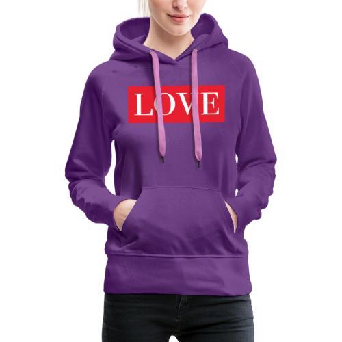 Red LOVE - Women's Premium Hoodie