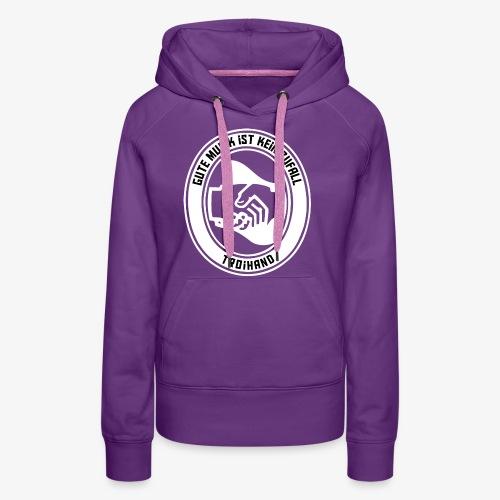 Logo Troihand invertiert - Frauen Premium Hoodie