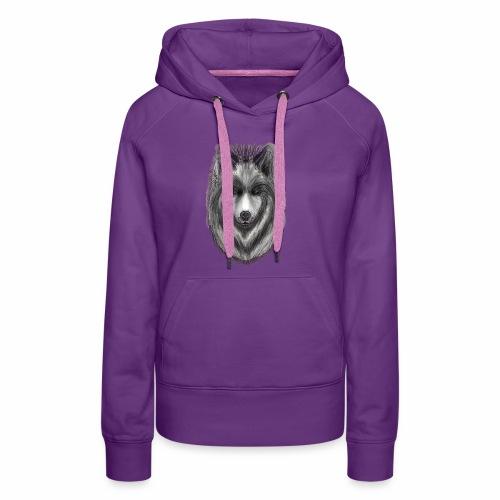 Foxy Wolf by Jon Ball - Women's Premium Hoodie