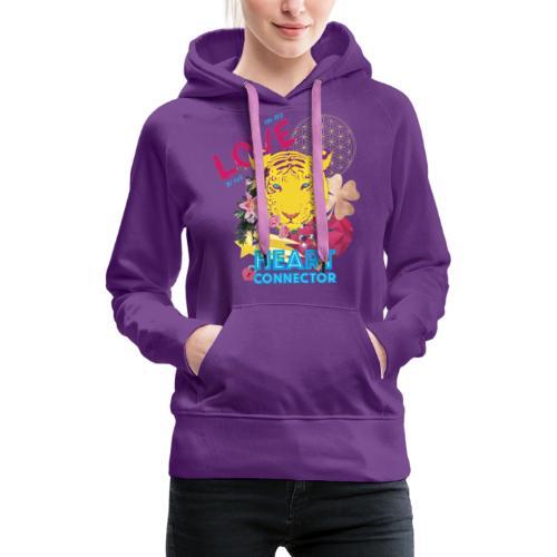 Design Heart Connector - Vrouwen Premium hoodie