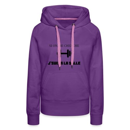 J SUIS A LA SALLE - Sweat-shirt à capuche Premium pour femmes