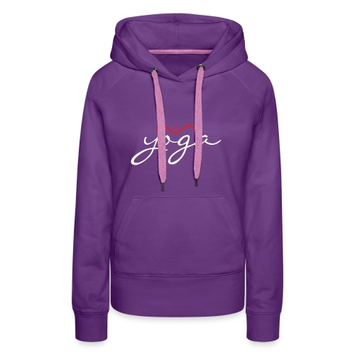 Yoga Balancing Typography And Emblem 2 - Frauen Premium Hoodie