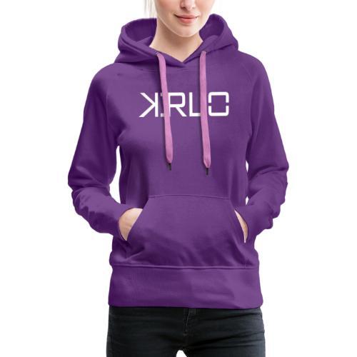 Kirlo Logo Blanco - Sudadera con capucha premium para mujer