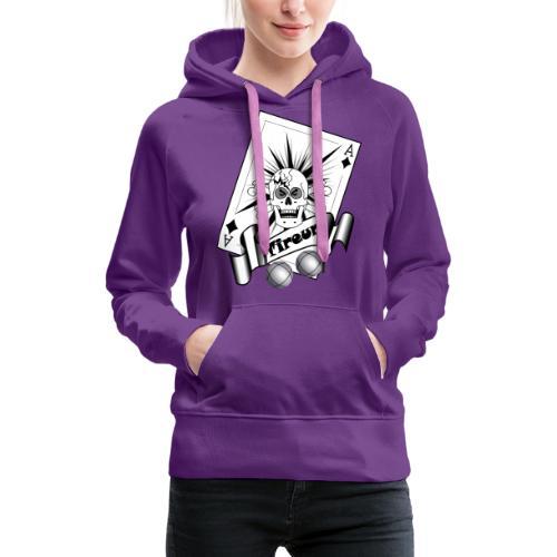 t shirt petanque tireur crane carreau boules - Sweat-shirt à capuche Premium pour femmes