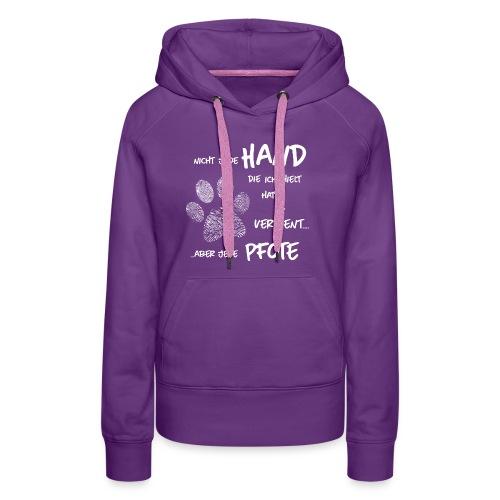 Hand Pfote Hund - Frauen Premium Hoodie