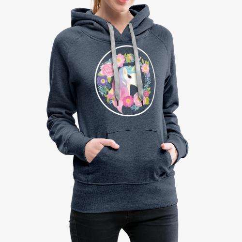 Unicorn - Felpa con cappuccio premium da donna