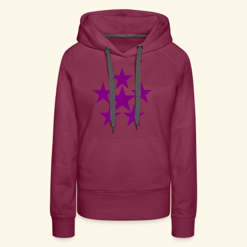 5 STAR lilla - Frauen Premium Hoodie