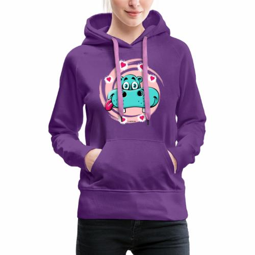 GP10-5A LOVE HIPPO Textile and Gift Products - Naisten premium-huppari