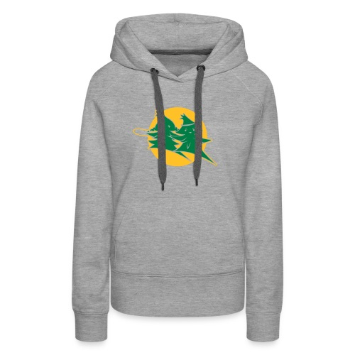 Forest Jump Logo 2farbig - Frauen Premium Hoodie