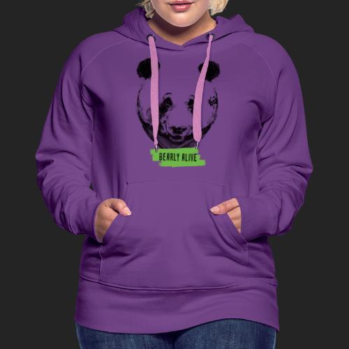 Panda bearly alive - Sweat-shirt à capuche Premium pour femmes