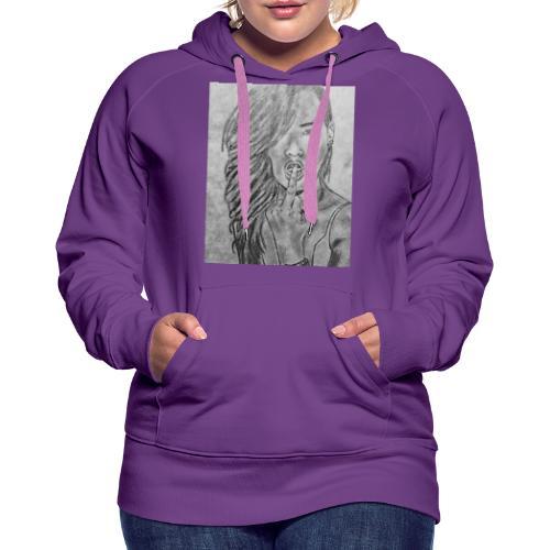 Jyrks_kunstdesign - Dame Premium hættetrøje