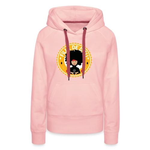 fillededieujaune - Sweat-shirt à capuche Premium pour femmes