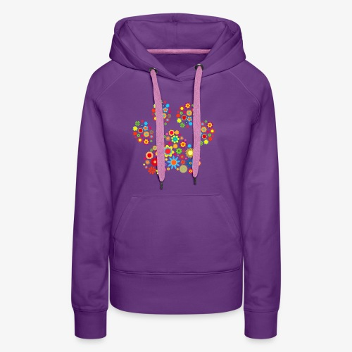 flower dog paw cat - Frauen Premium Hoodie