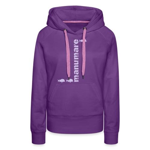 manumare_3_fische_in_grau - Frauen Premium Hoodie