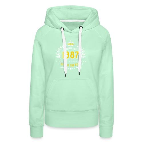 original since 1987 simply the best 30th birthday - Women's Premium Hoodie
