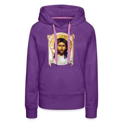 Low-Poly Jesus Icon - Women's Premium Hoodie