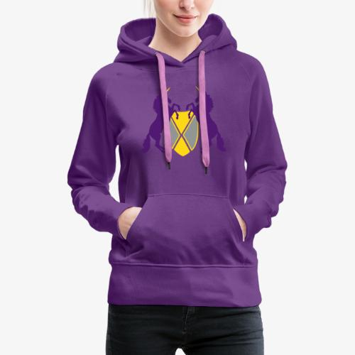 Unicorn Heraldry fantasy shield by patjila - Women's Premium Hoodie