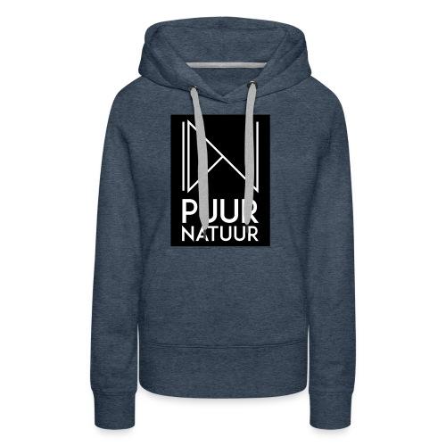 Logo puur natuur negatief - Vrouwen Premium hoodie