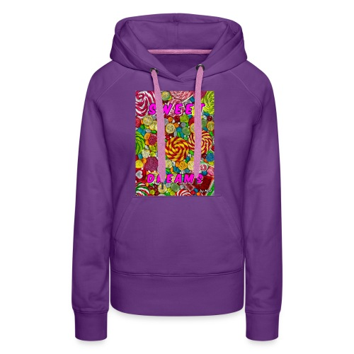 Sweet Dreams by mo2 - Sweat-shirt à capuche Premium pour femmes