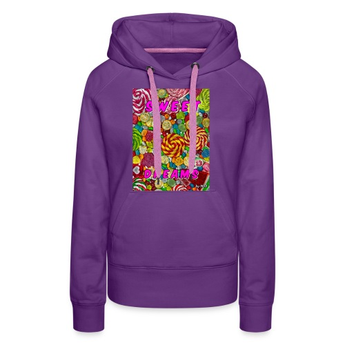 Sweet Dreams by mo2 - Sweat-shirt à capuche Premium pour femmes