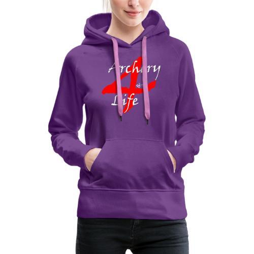 Archery4Life white - Frauen Premium Hoodie