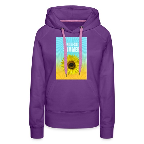 sunflower endless summer Sonnenblume Sommer - Women's Premium Hoodie