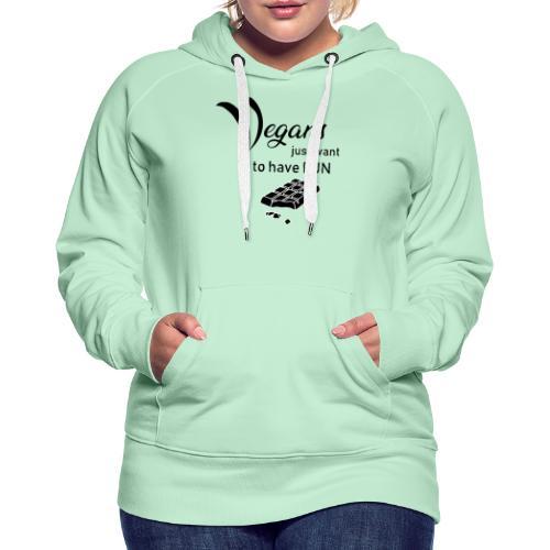Vegans just want to have fun - tinte chiare - Felpa con cappuccio premium da donna