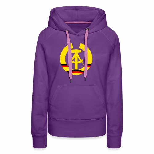 DDR coat of arms stylized (single) - Women's Premium Hoodie