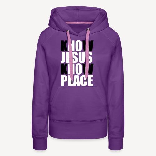 Know Jesus Know Peace - Women's Premium Hoodie